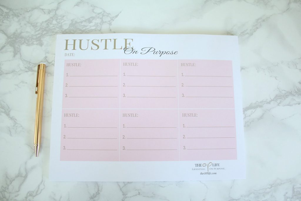 Hustle On Purpose Lifestyle Notepads Large