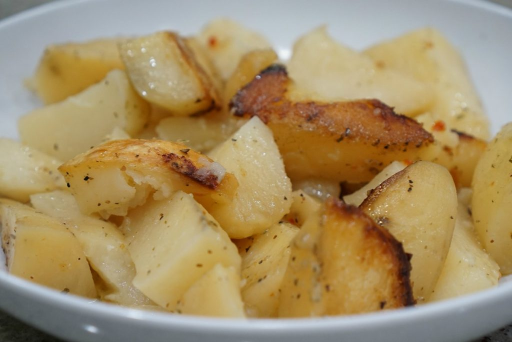 Eat This:  3 Ingredient Crockpot Potatoes
