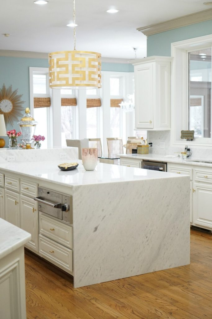 kitchen-makeover-marble-waterfall-island-www-theoplife-com