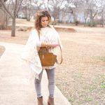 Shop Your Closet:  Ponchos and Velvet Leggings