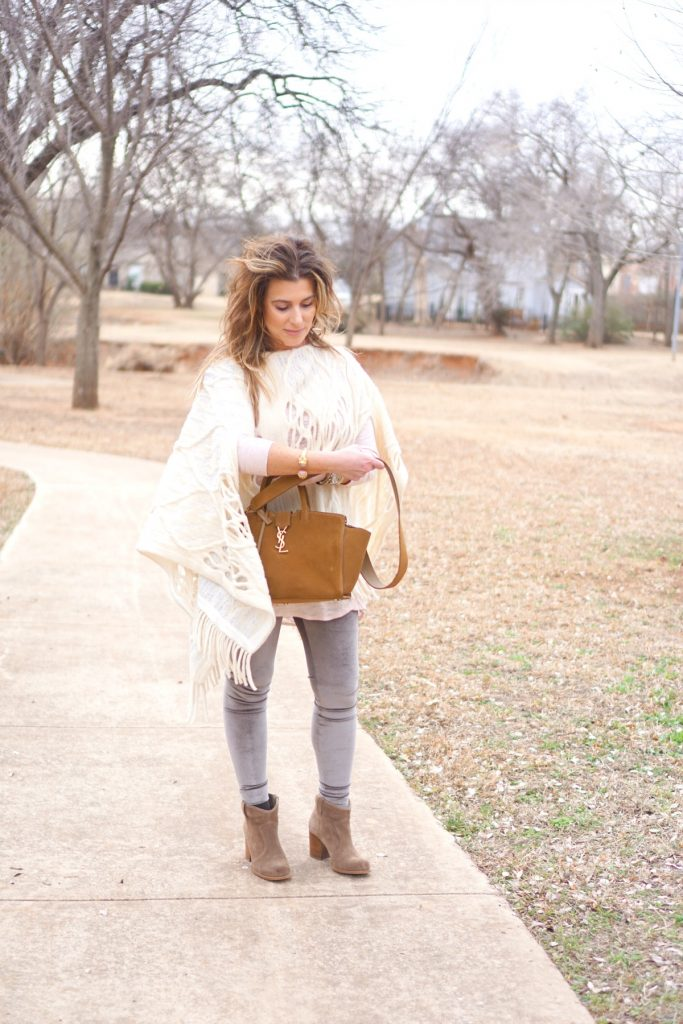 Shop Your Closet:  Ponchos and Velvet Leggings