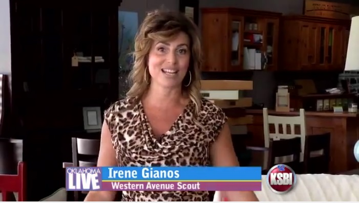 Western Ave Scout Irene Gianos at True North Furniture