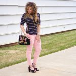What To Wear:  Pencil Pants and Stripes