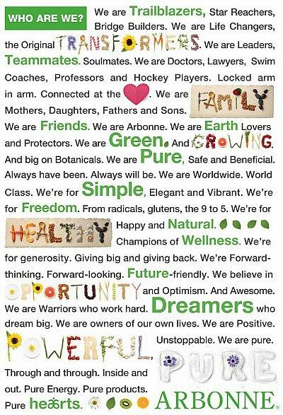 Arbonne Manifesto