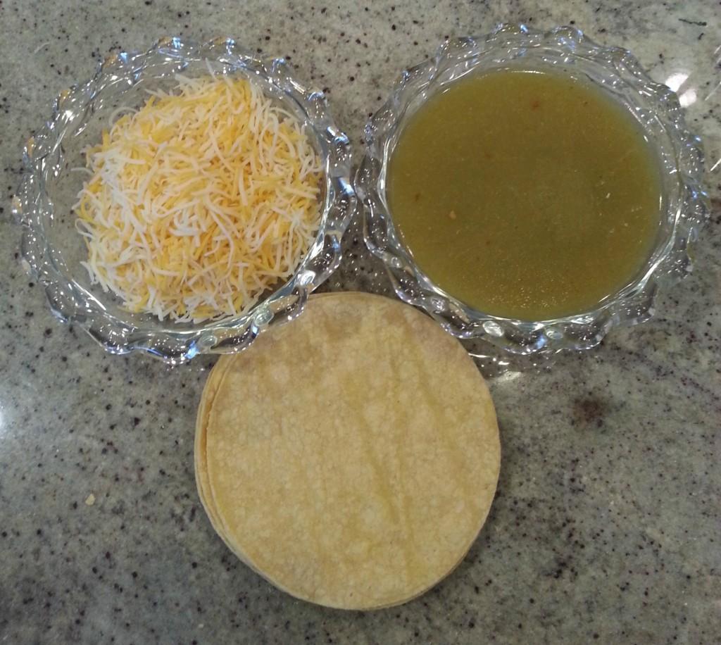 Ingredients for Green Chili Enchilada Chicken Casserole
