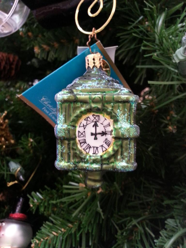 Christopher Radko Marshall Field's Clock Ornament