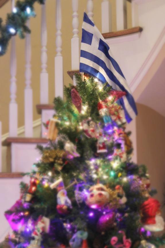 Tree Topper Greek Flag The OP Life