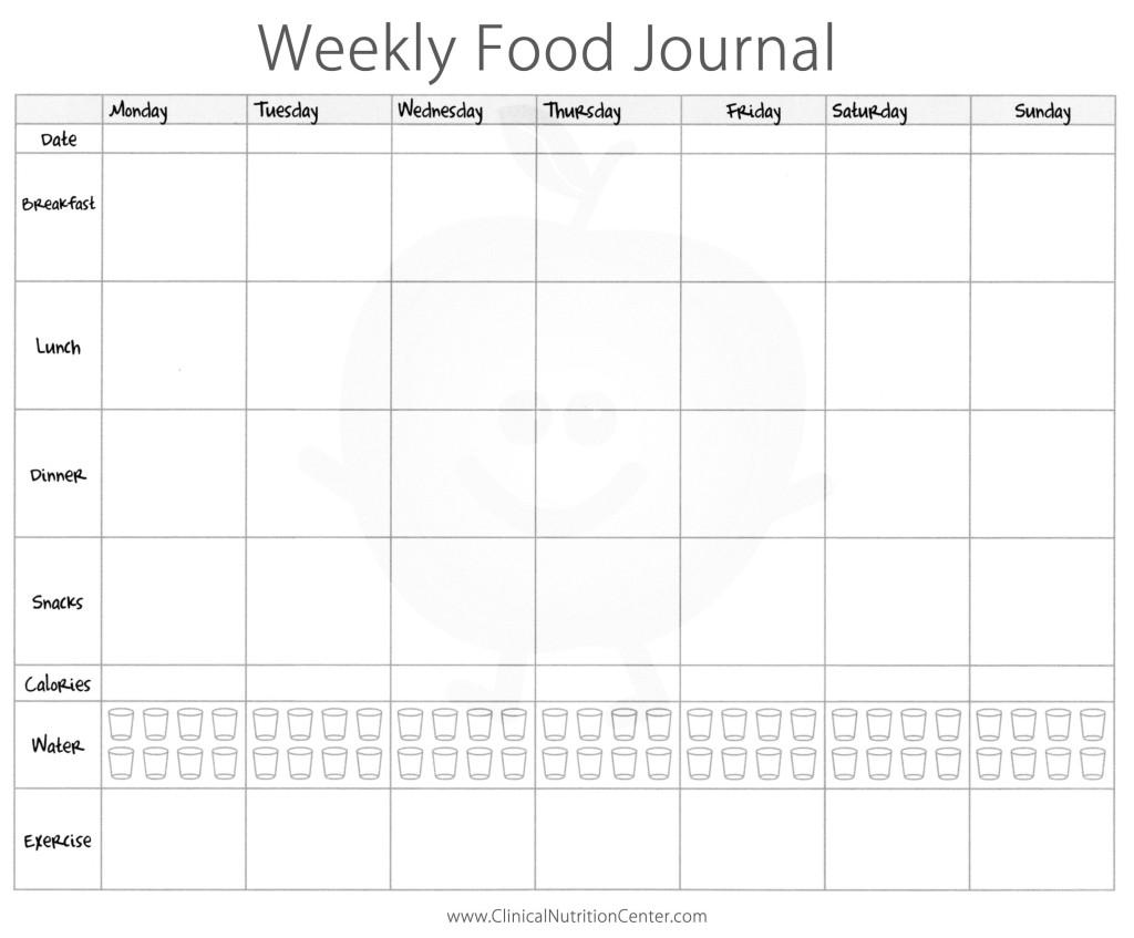 weekly_food_journal_printable