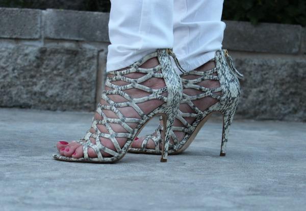 Ellie Tahari Cage Sandals The OP Life