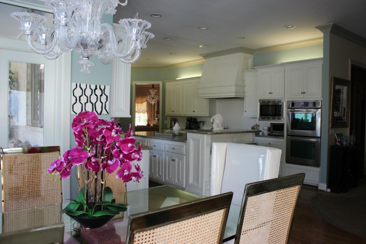 Kitchen before drum pendant chandelier 3 The OP Life