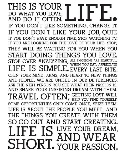 The OP Life - Life Manifesto