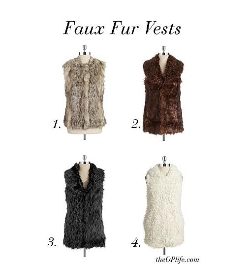 Faux Fur Vests The OP Life