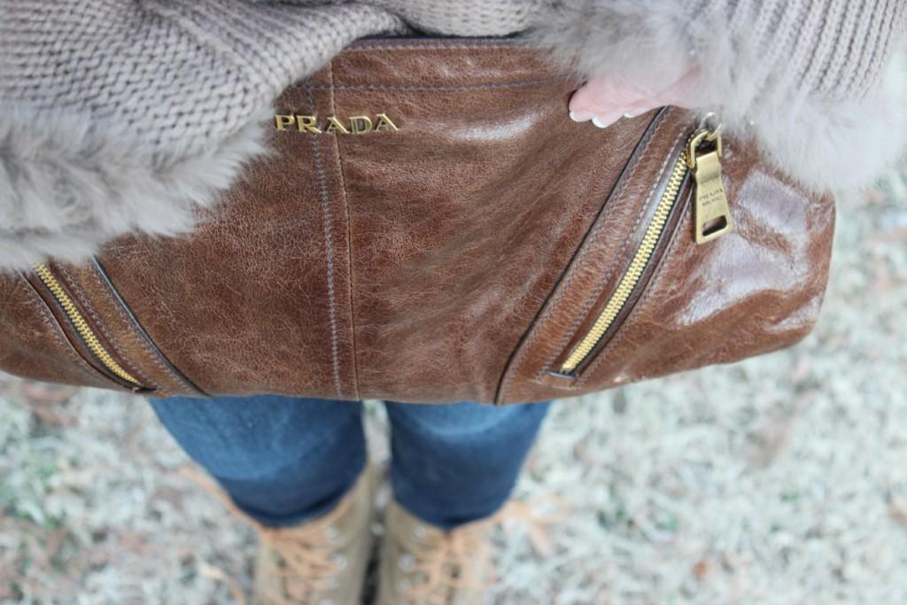 Fur Hooded Poncho Prada Bag 7 The OP Life