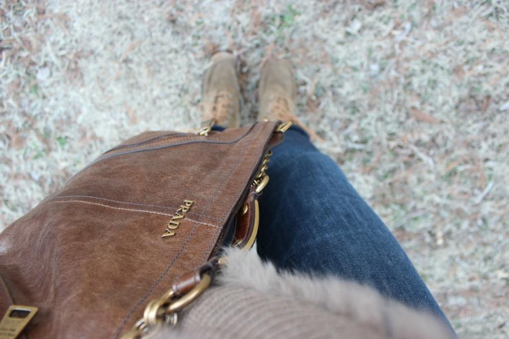 Fur Hooded Poncho Prada Bag 9 The OP Life