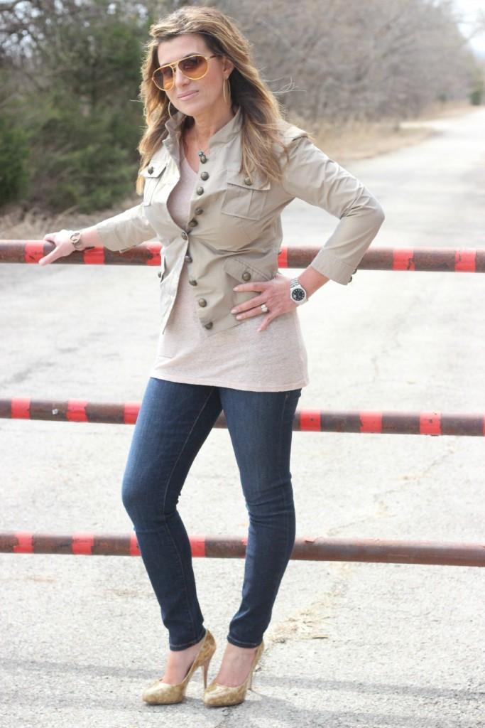 Nicole Miller Jacket Frame Jeans Giuseppe Zanotti pumps