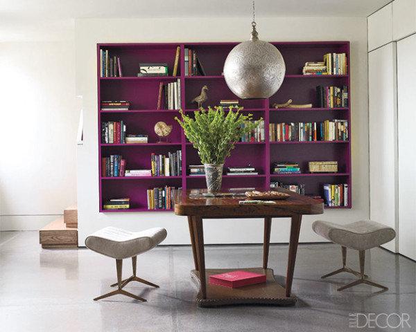 Make-your-bookshelves-pop-painting-them-similarly-bold-bright