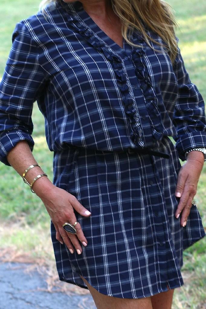 Joie Navy Shirt Dress