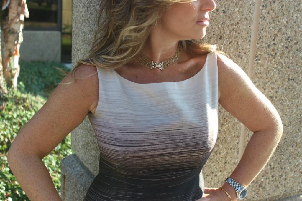 Halston Heritage Ombre Audrey Hepburn Dress 5