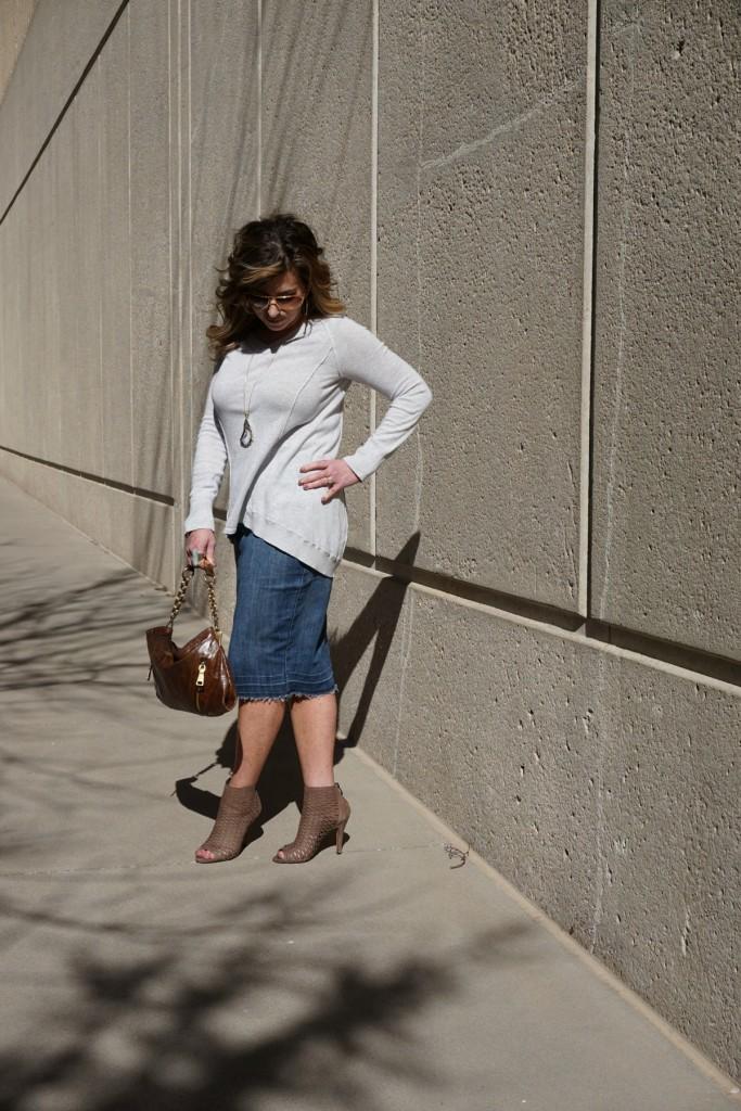 WhoWhatWear Target Denim Skirt The OP Life 6
