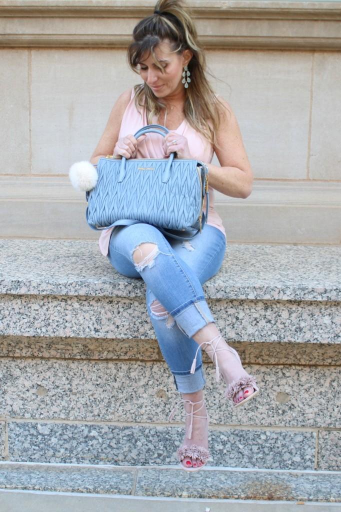 Strappy Heels MiuMiu Blue Bag Pantone 2016 TheOPLife.com 4