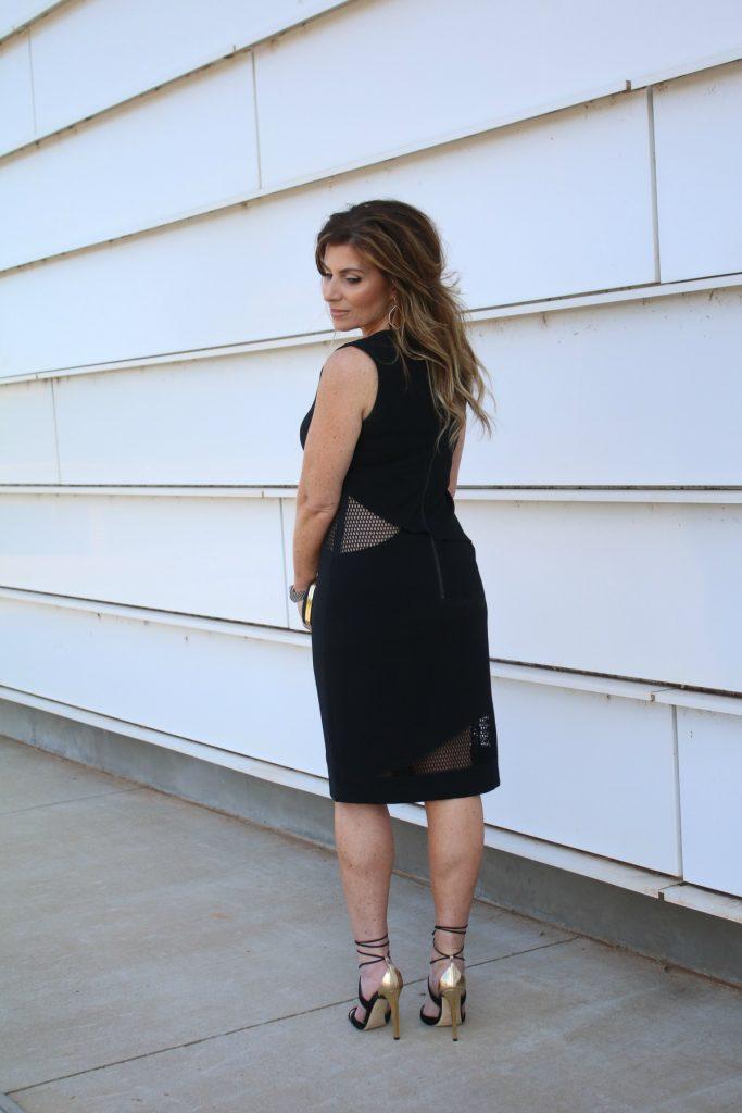 What To Wear Edgy LBDSachi & Babi Dress LV Clutch Jimmy Choo  TheOPLife.com 4