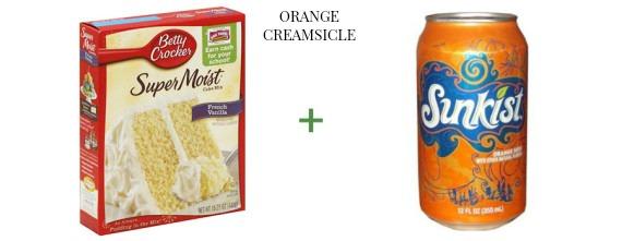 2 ingredient cake The OP Life Orange Creamsicle